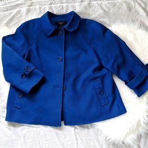 {Talbots} royal blue swing jacket